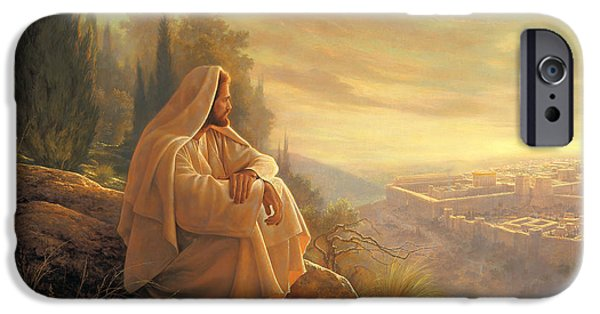 Yellow iPhone Cases - O Jerusalem iPhone Case by Greg Olsen