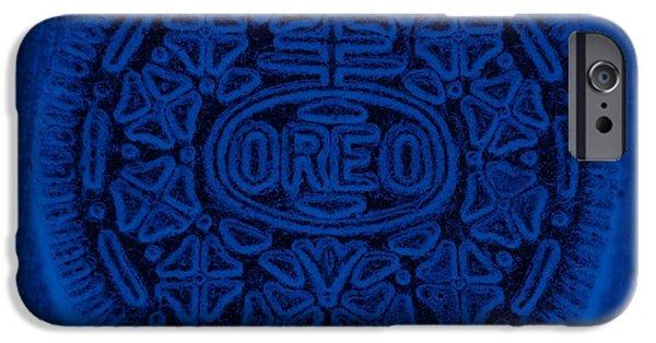 Oreos iPhone Cases - O R E O In Blue iPhone Case by Rob Hans