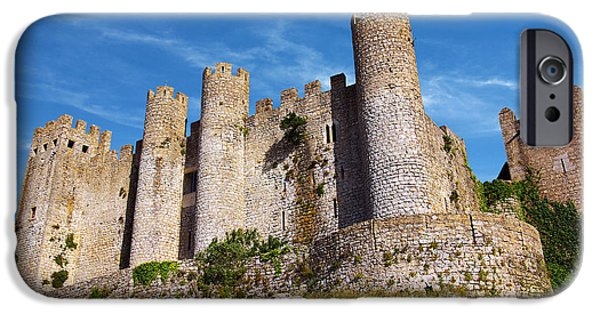Ancient iPhone Cases - Obidos Castle iPhone Case by Carlos Caetano