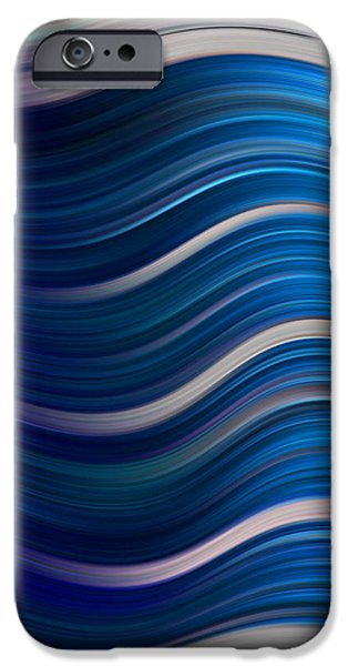 Abstract Digital Photographs iPhone Cases - Ocean Waves iPhone Case by Ken Smith