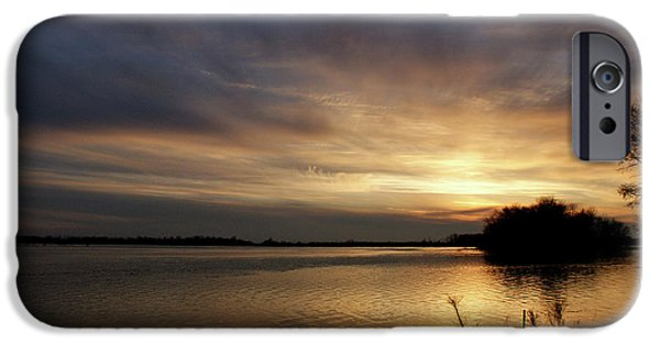 Evansville iPhone Cases - Ohio River Sunset iPhone Case by Sandy Keeton