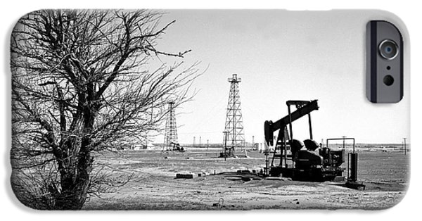 States iPhone Cases - Oklahoma Oil Field iPhone Case by Larry Keahey