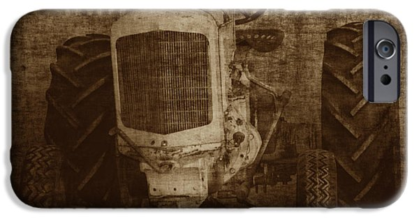 Crank iPhone Cases - Ol Yeller in Sepia iPhone Case by Ernie Echols