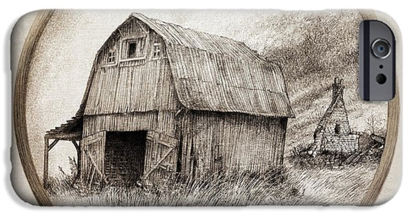 Sepia iPhone 6 Case - Old Barn by Eric Fan