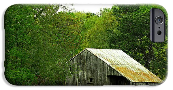 Best Sellers -  - Cabin Window iPhone Cases - Old barn V iPhone Case by Emanuel Tanjala