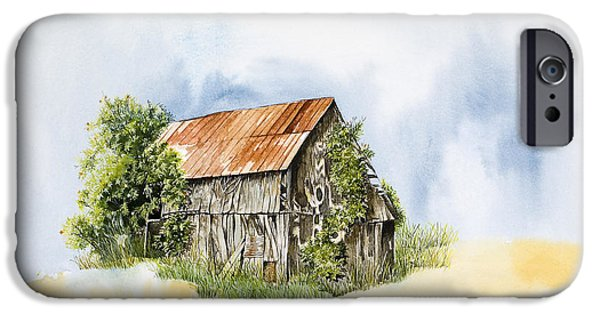 Old Barn Paintings iPhone Cases - Old Barn iPhone Case by Virginia McLaren