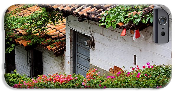 Village iPhone Cases - Old buildings in Puerto Vallarta Mexico iPhone Case by Elena Elisseeva