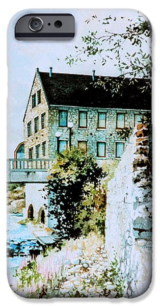 Old Mills iPhone Cases - Old Cambridge Mill iPhone Case by Hanne Lore Koehler