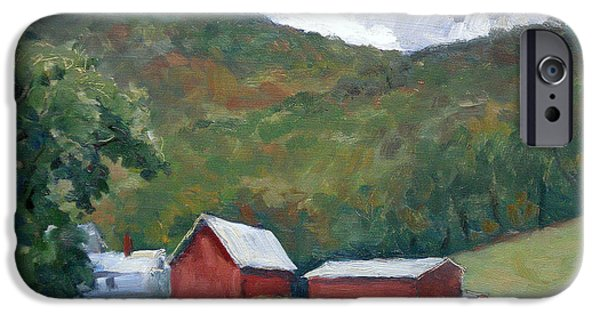 Recently Sold -  - Shed iPhone Cases - Old Farm Berkshires iPhone Case by Thor Wickstrom