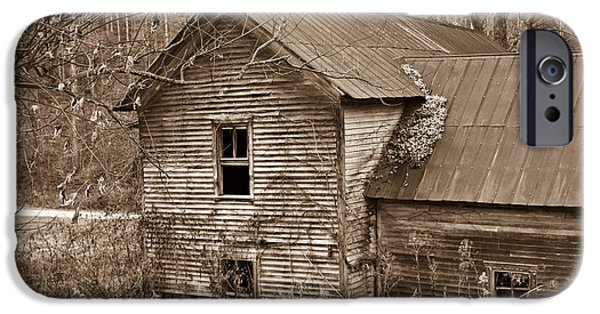 Recently Sold -  - West Fork iPhone Cases - Old Farm House in Sepia 6 iPhone Case by Douglas Barnett