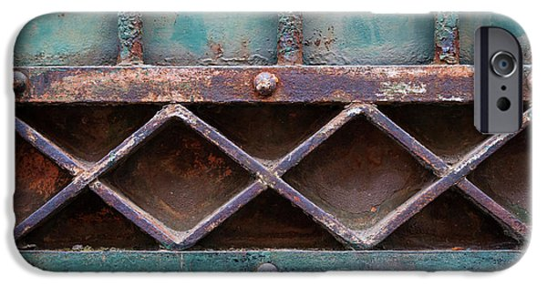 Ironwork iPhone 6 Case - Old Gate Geometric Detail by Elena Elisseeva