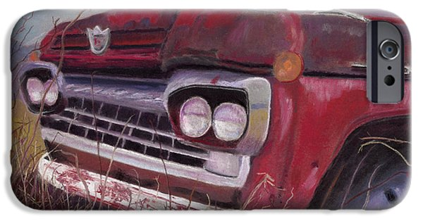 Rust Pastels iPhone Cases - Old Red iPhone Case by Arlene Crafton