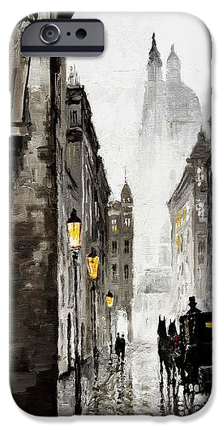 Old Mixed Media iPhone Cases - Old Street iPhone Case by Yuriy  Shevchuk