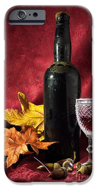 Old Wine Bottle iPhone Case by Carlos Caetano