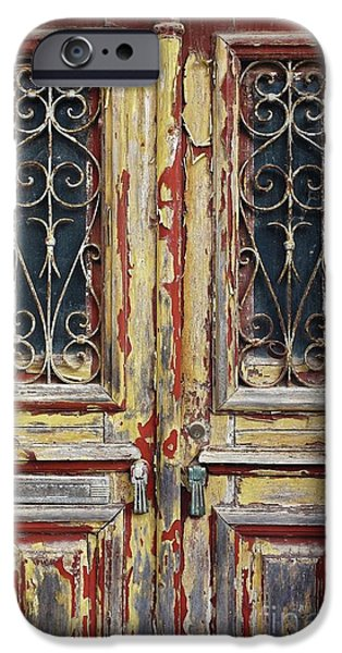 Ironwork iPhone 6 Case - Old Wooden Doors by Carlos Caetano