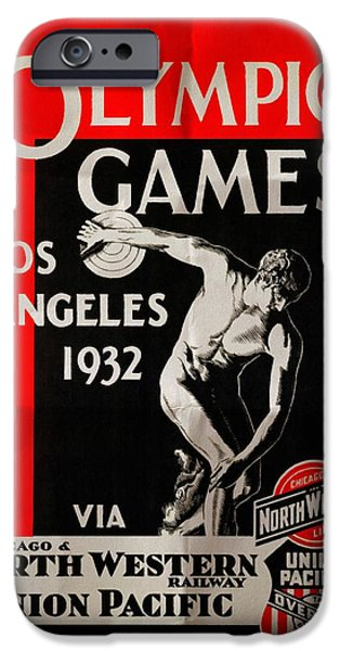 Sears Tower iPhone Cases - Olympic Games Los Angeles 1932 - Folded iPhone Case by Vintage Advertising Posters