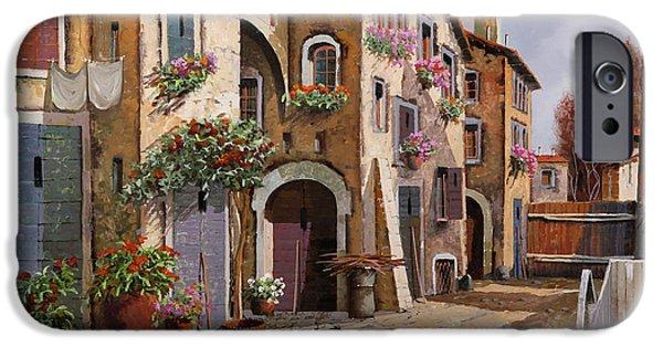 Village iPhone 6 Case - Ombre Per Strada by Guido Borelli