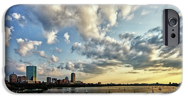 Charles River iPhone Cases - On The Charles II iPhone Case by Rick Berk