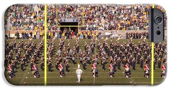 Marching Band Photographs iPhone Cases - On the Field iPhone Case by David Bearden