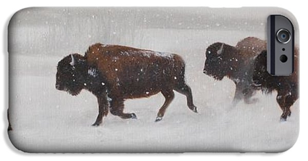 Winter Scene iPhone Cases - On The Move iPhone Case by Tammy  Taylor