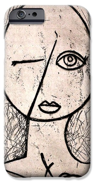 Abstract Reliefs iPhone Cases - One Eye iPhone Case by Thomas Valentine