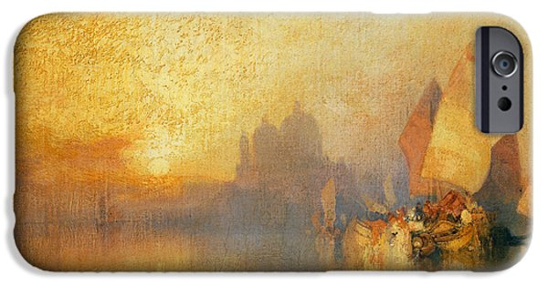 Navy iPhone Cases - Opalescent Venice iPhone Case by Thomas Moran