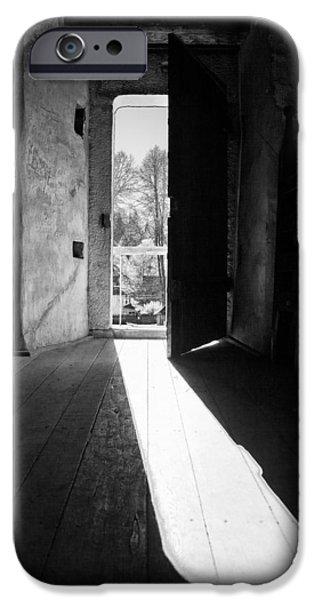 Entrance Door Photographs iPhone Cases - Open door iPhone Case by Gabriela Insuratelu