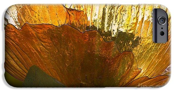Hightower iPhone Cases - Orange Glass Flower iPhone Case by Tim Hightower