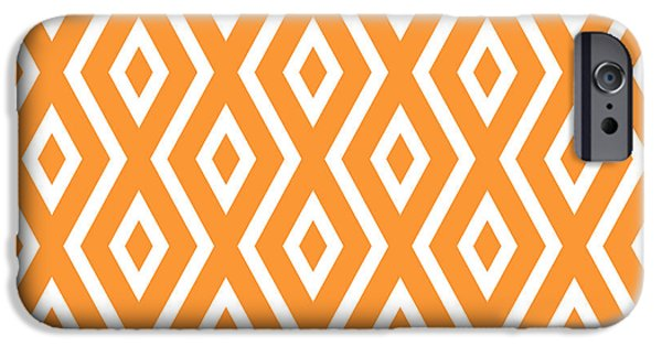 Illusion iPhone 6 Case - Peach Pattern by Christina Rollo