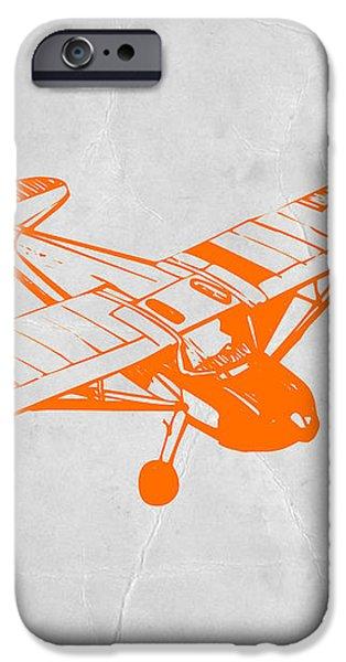 Orange Plane 2 iPhone Case by Naxart Studio