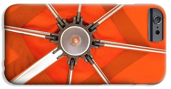 Orange iPhone 6 Case - Orange Umbrella #photography by Juan Silva