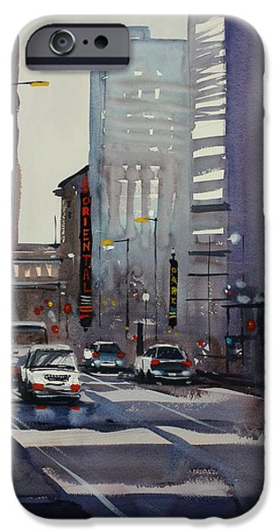 Chicago Paintings iPhone Cases - Oriental Theater - Chicago iPhone Case by Ryan Radke