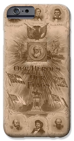 American History iPhone Cases - Our Heroes and Our Flags iPhone Case by War Is Hell Store
