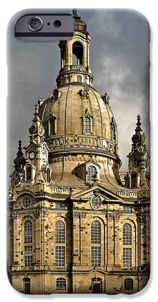 Deutschland iPhone Cases - Our Ladys Church of Dresden iPhone Case by Christine Till