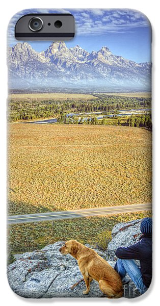 Best Friend iPhone Cases - Overlooking the Grand Tetons Jackson Hole iPhone Case by Dustin K Ryan