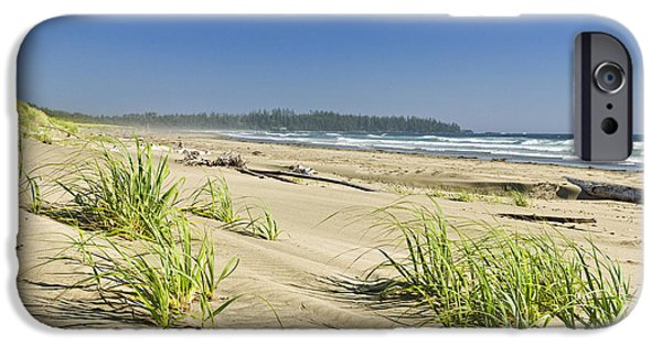 Pristine iPhone Cases - Pacific ocean shore on Vancouver Island iPhone Case by Elena Elisseeva
