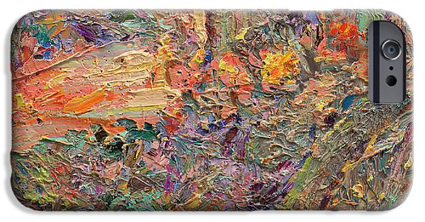 Texture Paintings iPhone Cases - Paint number 34 iPhone Case by James W Johnson