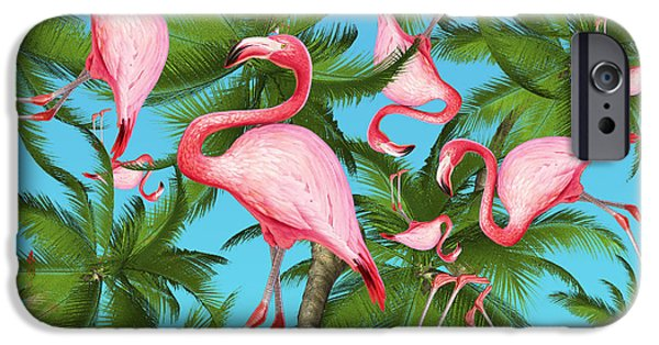 Pattern iPhone 6 Case - Palm Tree by Mark Ashkenazi