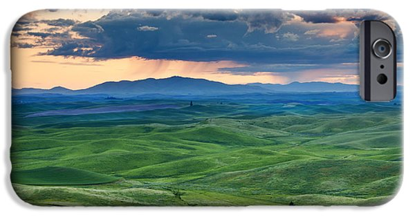 Green Photographs iPhone Cases - Palouse Storm iPhone Case by Mike  Dawson
