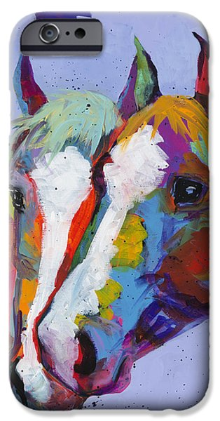 Friendly iPhone Cases - Pardners iPhone Case by Tracy Miller
