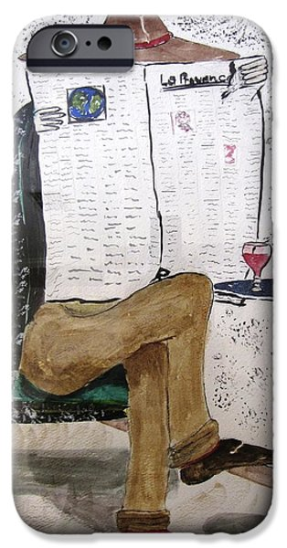 Wine Legs iPhone Cases - Parisian Daily iPhone Case by Gary Smith