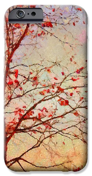Autumn Trees iPhone Cases - Parsi-Parla - d04c03t01 iPhone Case by Variance Collections