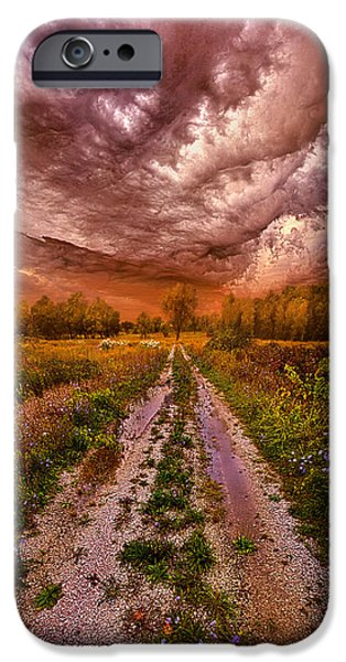 Road Travel iPhone Cases - Passion Within Chaos iPhone Case by Phil Koch
