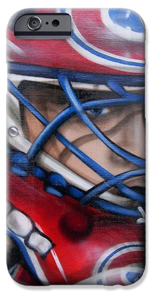 Street Hockey iPhone Cases - Patrick Roy ... iPhone Case by Juergen Weiss