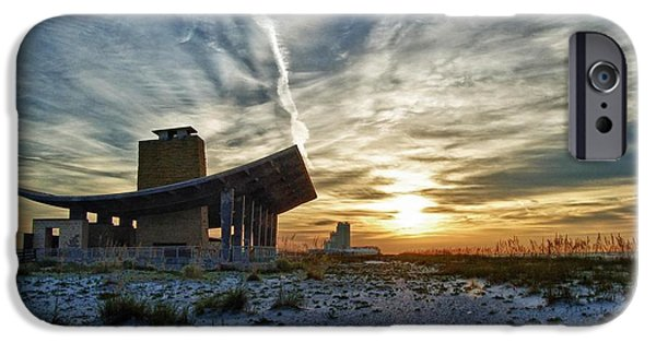 Micdesigns iPhone Cases - Pavillion and the beach iPhone Case by Michael Thomas