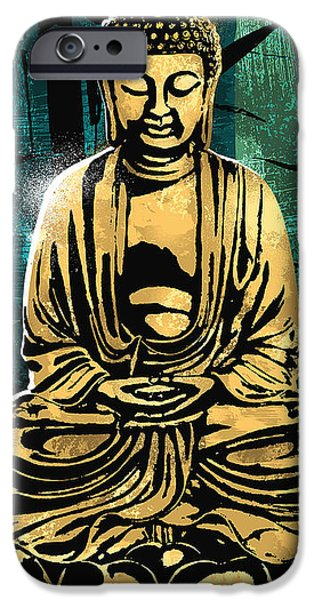 Buddhism iPhone 6 Case - Peace Of Gold by Canvas Cultures
