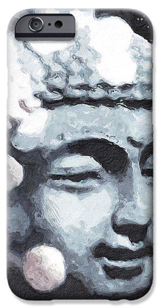 Buddhism iPhone 6 Case - Peaceful Buddha 3- Art By Linda Woods by Linda Woods