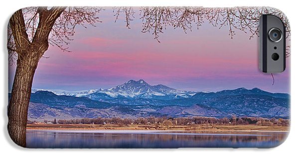 Epic iPhone Cases - Peaceful Early Morning First Light Longs Peak View iPhone Case by James BO  Insogna
