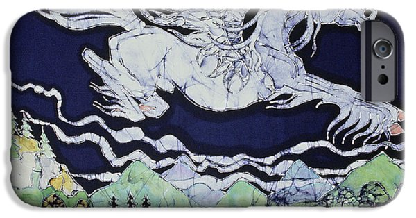 House Tapestries - Textiles iPhone Cases - Pegasus Flying Over Stream iPhone Case by Carol  Law Conklin