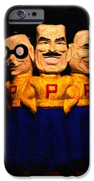 Car Mascot Digital iPhone Cases - Pep Boys - Manny Moe Jack - Painterly - 7D17428 iPhone Case by Wingsdomain Art and Photography